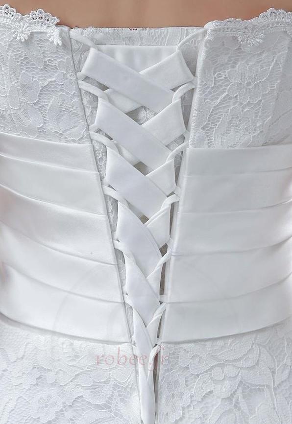Robe de mariée Sans courroies Naturel taille Orné de Rosette 3