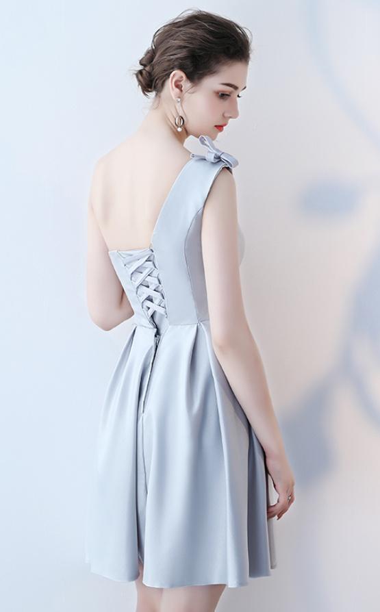 Robe de demoiselle d'honneur Longueur de genou Satin Norme A-ligne 10