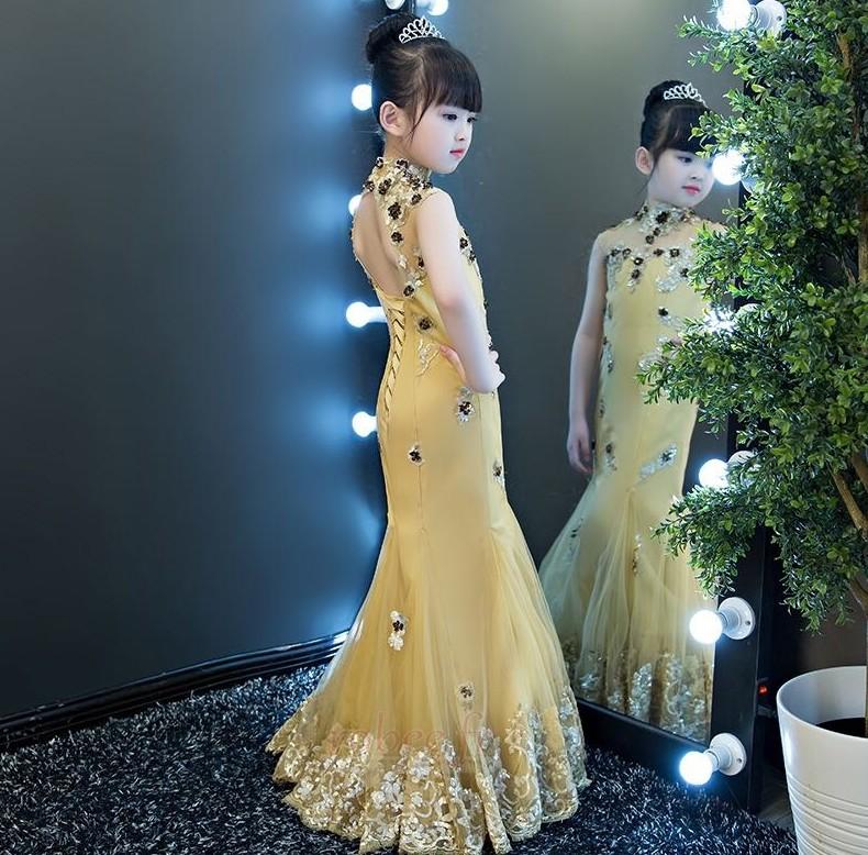Robe de fille de fleur Médium Taille chute Montrer Printemps 3