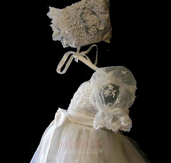 Robe de fille de fleur Princesse Cérémonie Petit collier circulaire 3