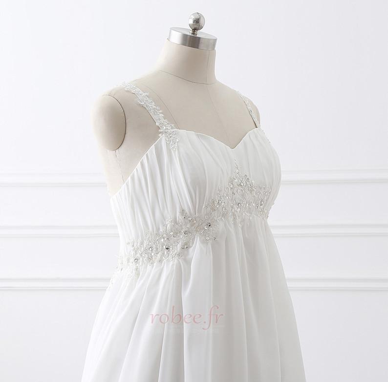 Robe de mariée Grandes Tailles Larges Bretelles Empire Chaussez 5
