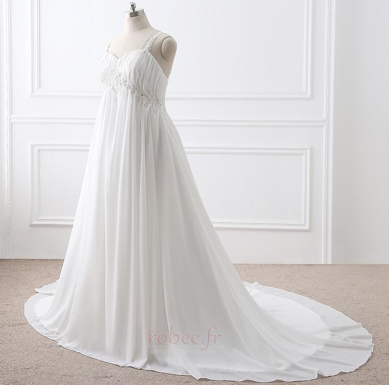 Robe de mariée Grandes Tailles Larges Bretelles Empire Chaussez 2
