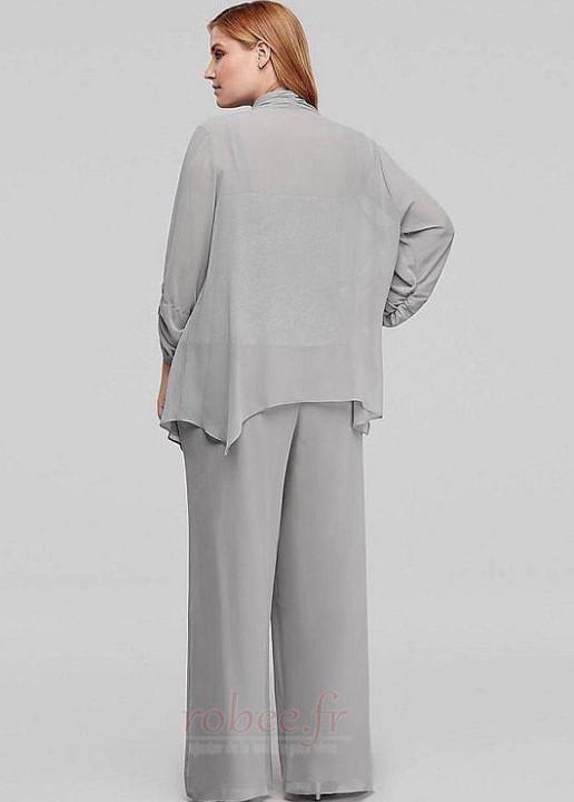Robe mères Un Costume Drapé Haute Couvert 3/4 Manche Couvert de Dentelle 5