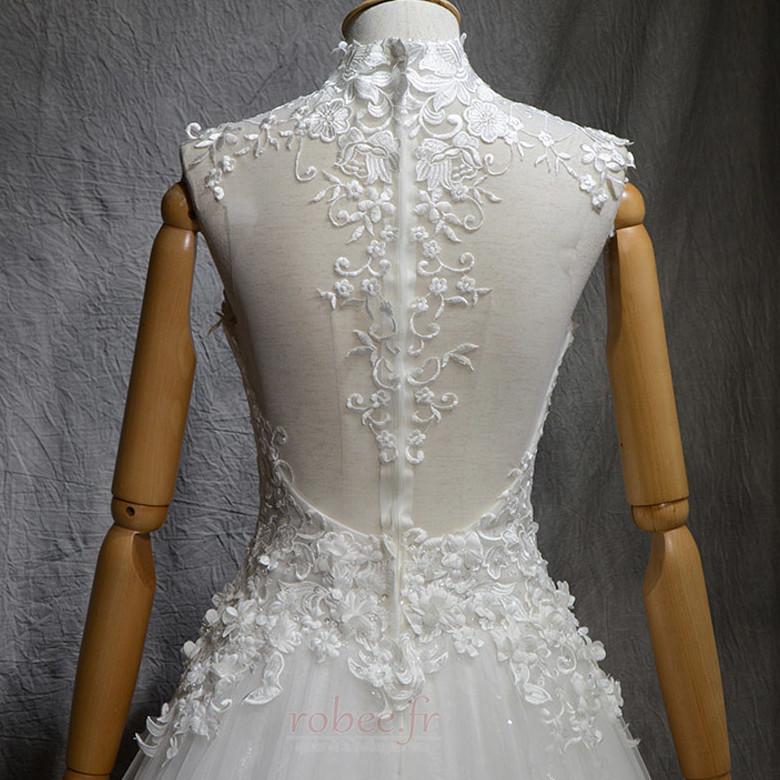Robe de mariée Naturel taille Haute Couvert Satin A-ligne Manquant 5