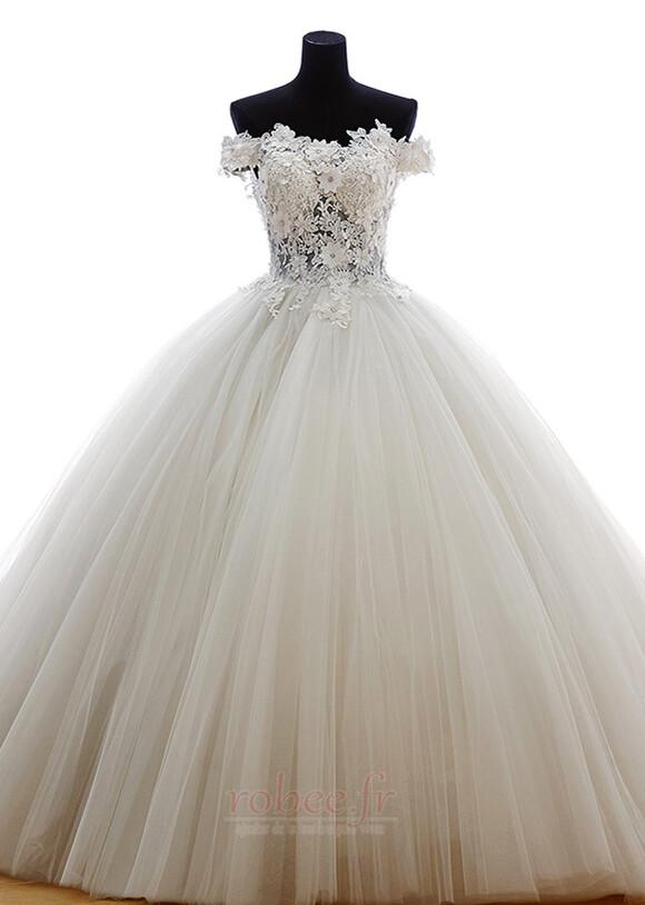 Robe de mariée Tulle Formelle Hiver Naturel taille Longue Princesse 1
