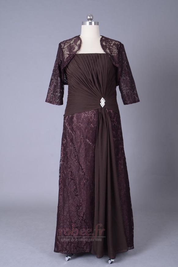 Robe mères Longueur de plancher Sans courroies Petites Tailles 1