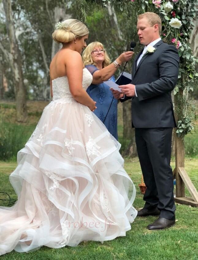 Robe de mariée Naturel taille Fermeture à glissière Printemps 2
