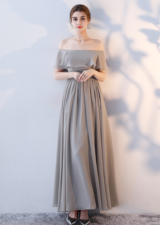 Robe de demoiselle d'honneur Laçage Sans Manches Mousseline A-ligne 9