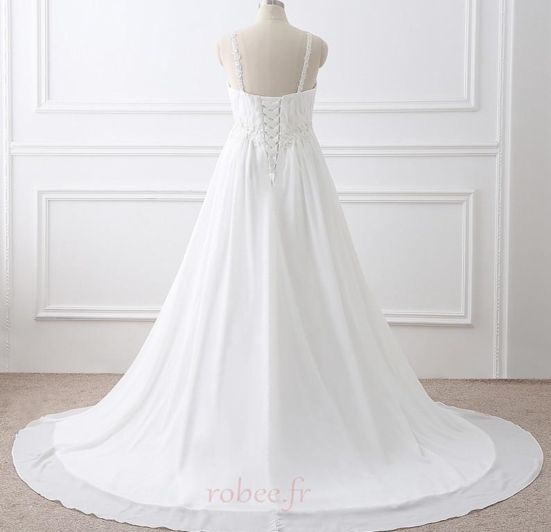 Robe de mariée Grandes Tailles Larges Bretelles Empire Chaussez 4