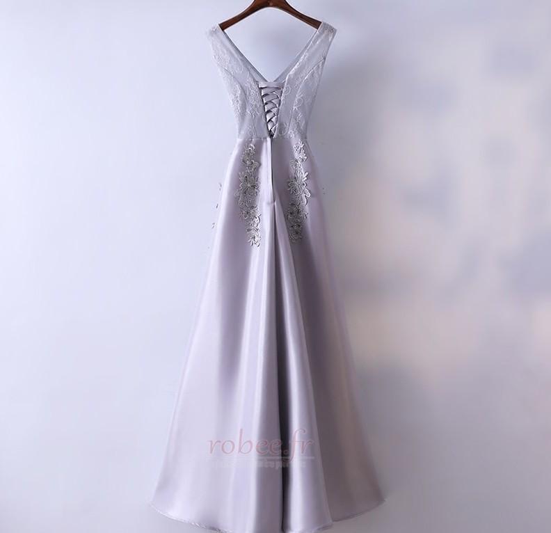 Robe de demoiselle d'honneur Luxueux Festin Sans Manches Dos nu 2
