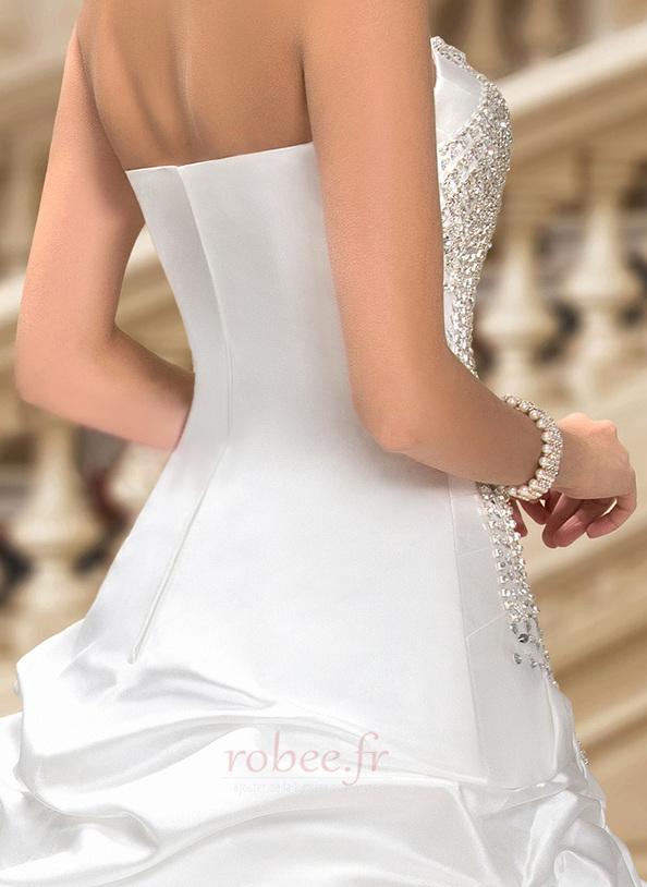 Robe de mariée Hiver Scintillait Princesse Asymétrique Satin 7