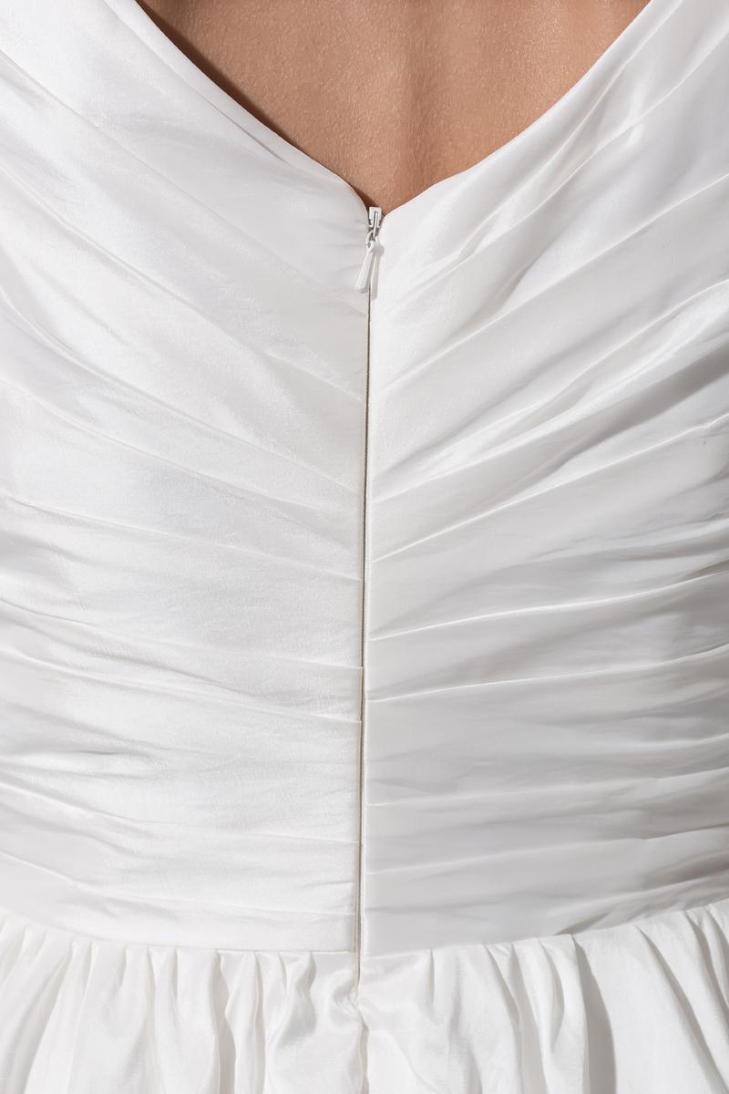 Robe de mariée Courte Haute Couvert Col en V Foncé Naturel taille 6