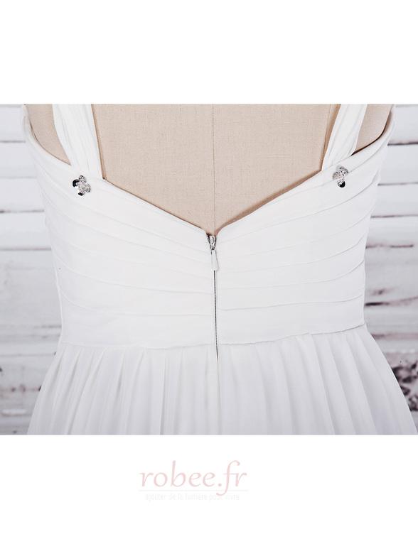 Robe de mariée Col en Cœur Sage Sans Manches Printemps noble 4