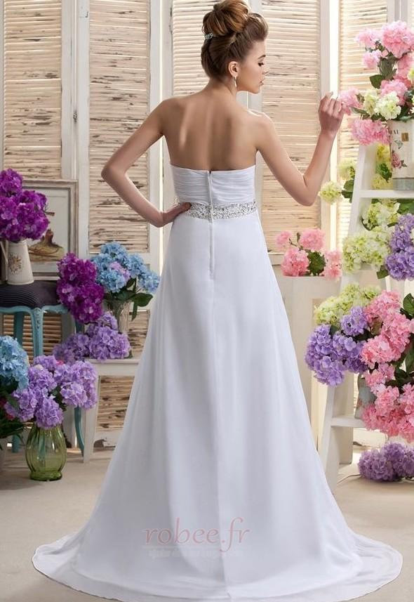 Robe de mariée Mousseline taille haute Médium Longueur de plancher 3