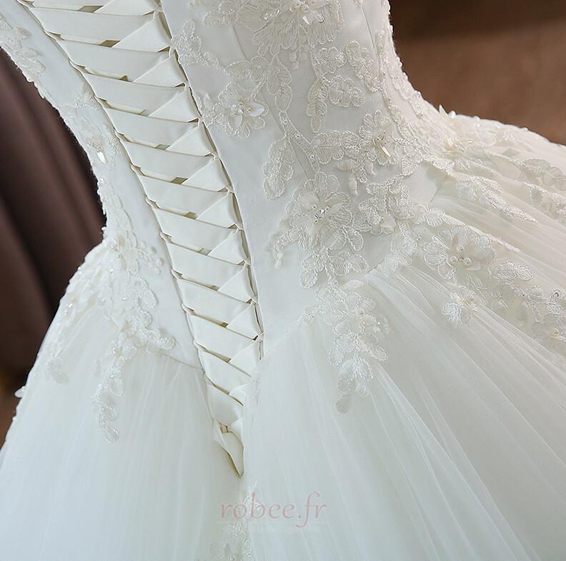Robe de mariée Mancheron Formelle Eglise Perles net a ligne 4