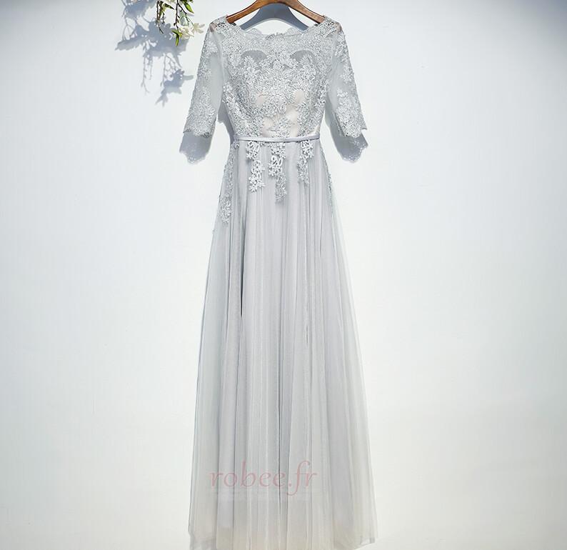 Robe de demoiselle d'honneur Manche Aérienne Festin Vintage Gaze 1