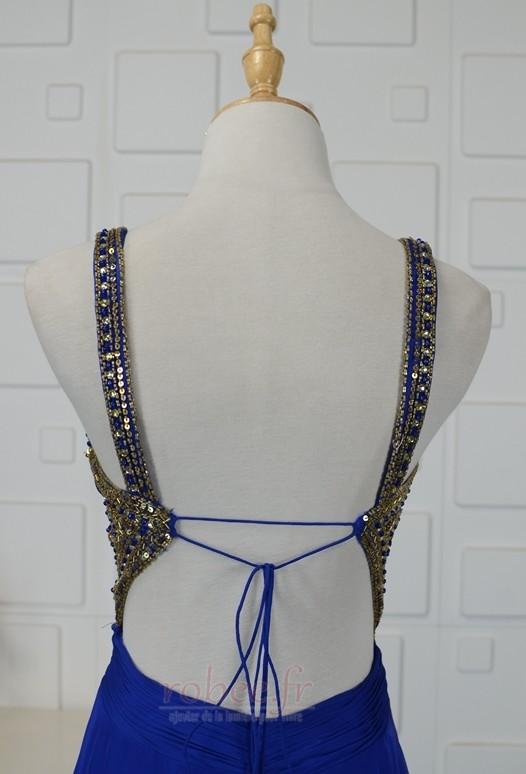 Robe de bal Triangle Inversé Larges Bretelles Fourreau plissé 5
