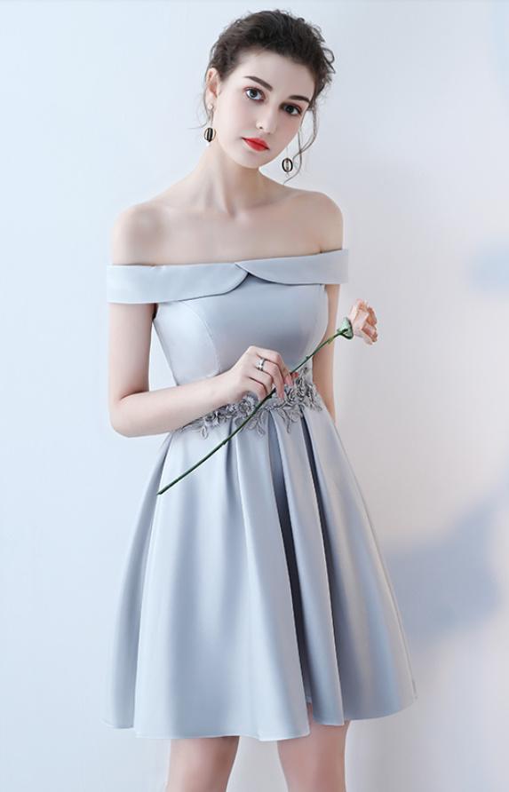 Robe de demoiselle d'honneur Longueur de genou Satin Norme A-ligne 11