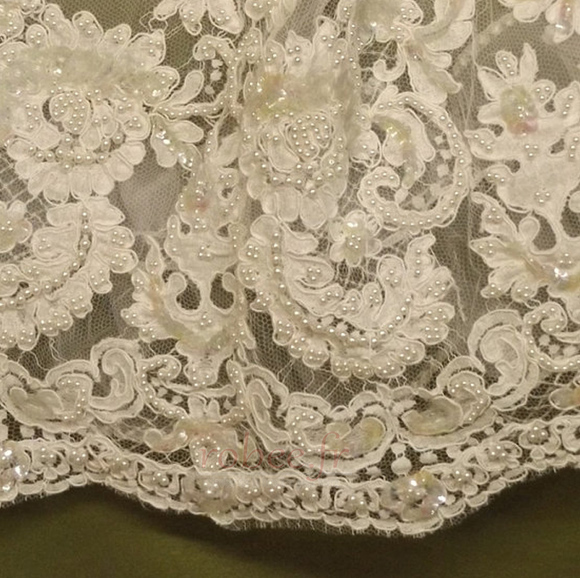 Robe de fille de fleur Manche Aérienne Naturel taille Princesse 4