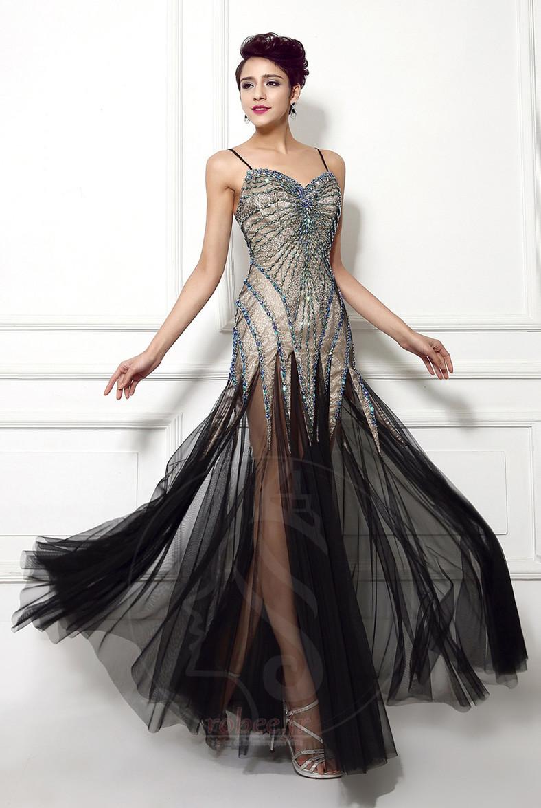 Robe de bal Dos nu Tulle Perler aligne Traîne Courte Luxueux 1
