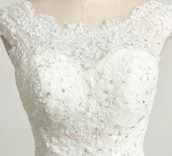 Robe de mariée Princesse Eglise Traîne Longue Manche Courte Satin 5