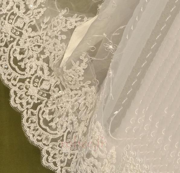 Robe de fille de fleur Princesse Dentelle Cérémonie Ceinture en Étoffe 4