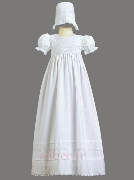 Robe de fille de fleur Cérémonie Naturel taille Exquisite Fermeture à glissière 1