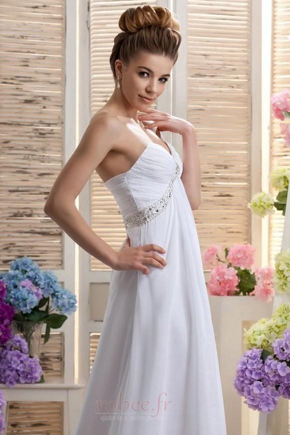 Robe de mariée Mousseline taille haute Médium Longueur de plancher 4