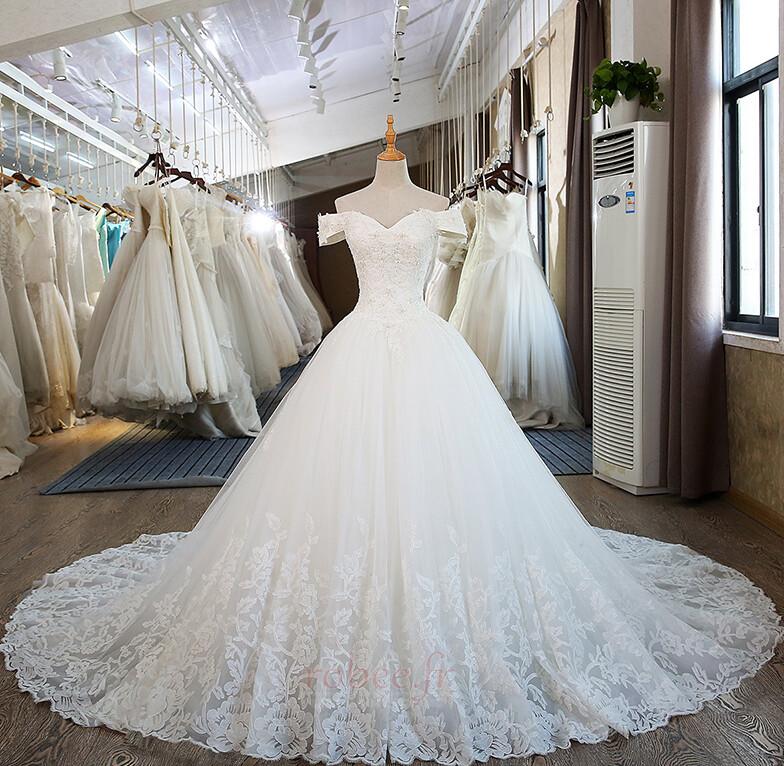 Robe de mariée Mancheron Formelle Eglise Perles net a ligne 1