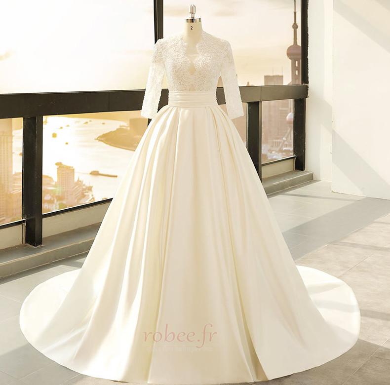 Robe de mariage Décalcomanie Trou De Serrure Manche de T-shirt 1
