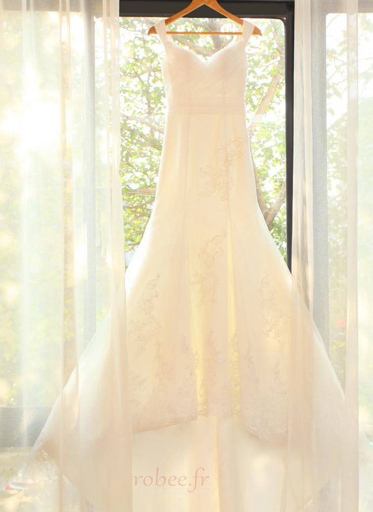 Robe de mariée Manquant Mancheron Elégant De plein air net Naturel taille 7