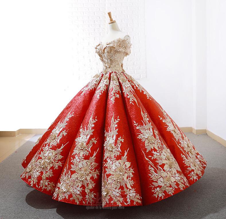 Robe de bal Rosée épaule Manche Courte Laçage À la masse Étoilé 2