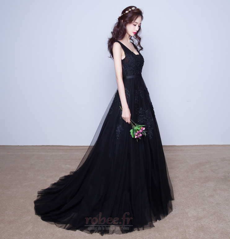 Robe de demoiselle d'honneur Tulle A-ligne Sans Manches Naturel taille 6