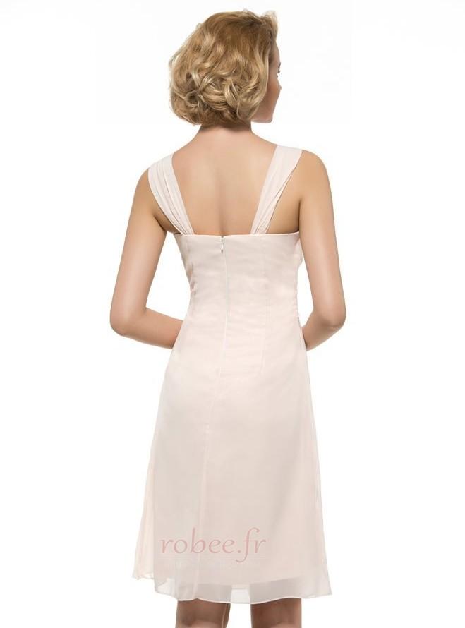 Robe mères Froid Fourreau plissé Manquant Naturel taille Longueur de genou 3