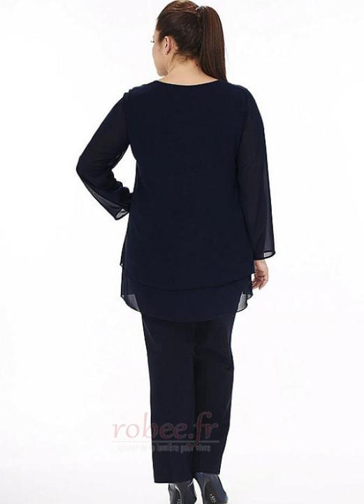 Robe mères Manche Longue Haute Couvert Petit collier circulaire 3