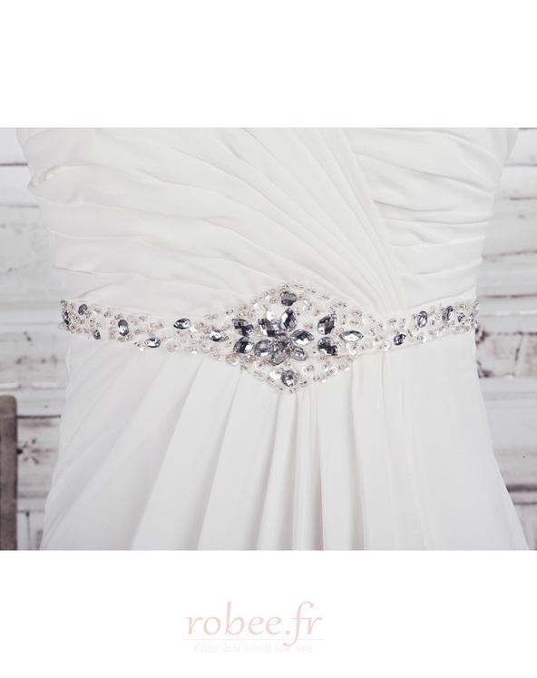 Robe de mariée Empire Longue Laçage De plein air Sans bretelles 4