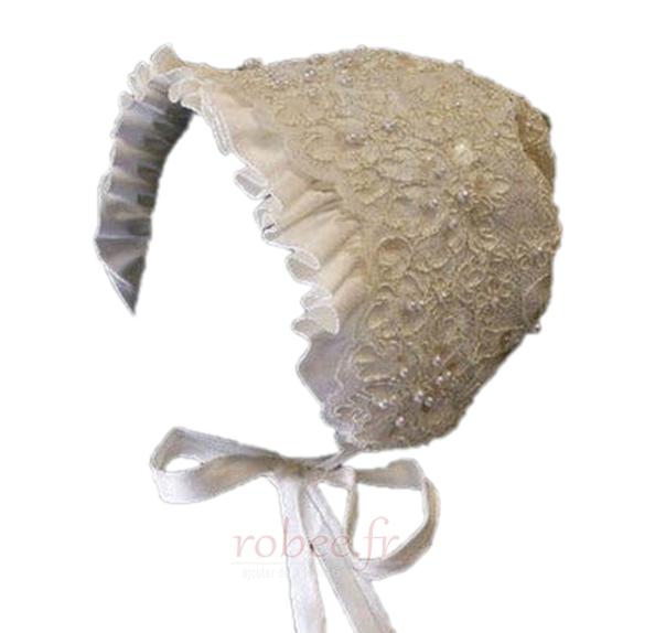 Robe de fille de fleur Haute Couvert Dentelle Petit collier circulaire 2