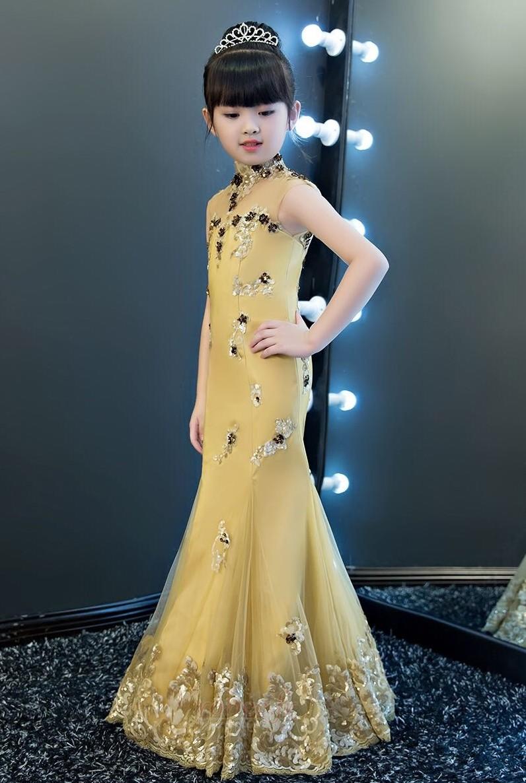 Robe de fille de fleur Médium Taille chute Montrer Printemps 5