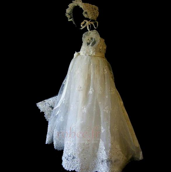 Robe de fille de fleur Princesse Cérémonie Petit collier circulaire 2