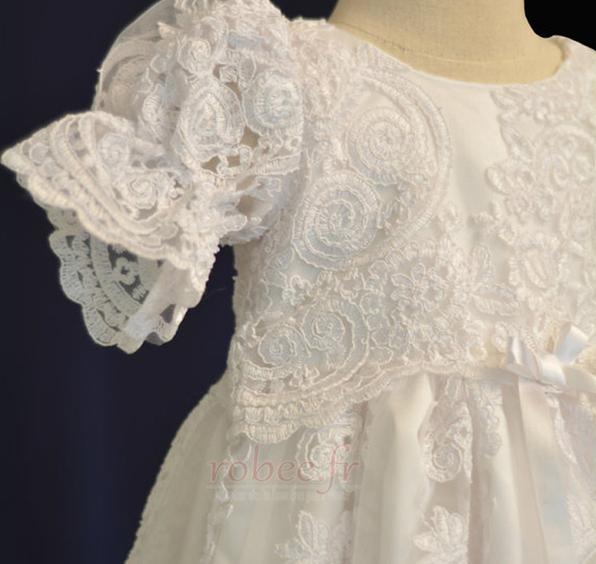 Robe de fille de fleur Dentelle Manche Courte Lanterne Princesse 2