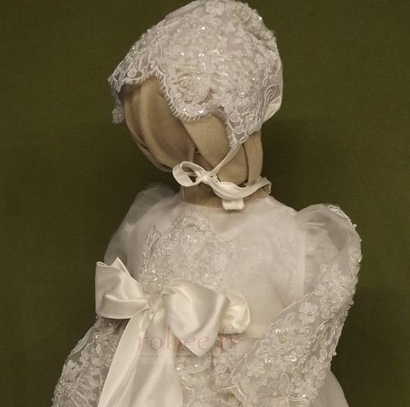 Robe de fille de fleur Naturel taille Norme Longue Automne Manche Courte 3