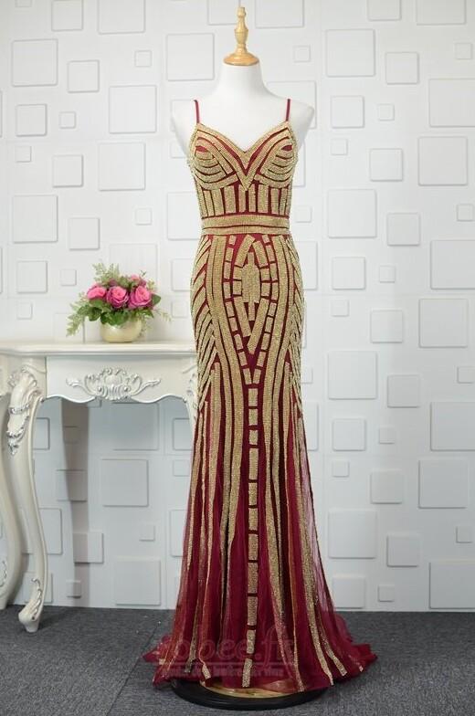 Robe de soirée Tulle Naturel taille semi-couverte Étoilé Corsage Avec Bijoux 7