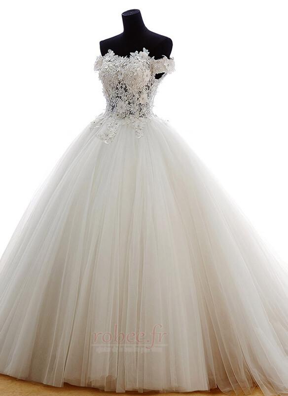 Robe de mariée Tulle Formelle Hiver Naturel taille Longue Princesse 3