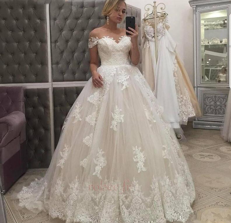 Robe de mariage Tribunal train Manquant Naturel taille gossamer 1