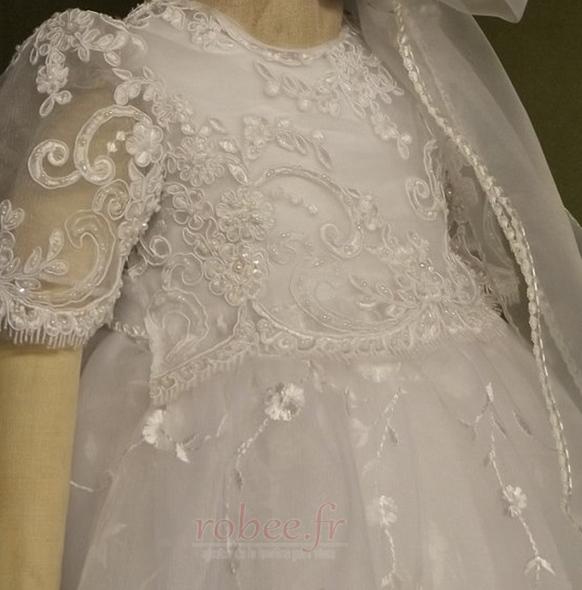 Robe de fille de fleur Bébé Col de chemise t Longue Haute Couvert 3