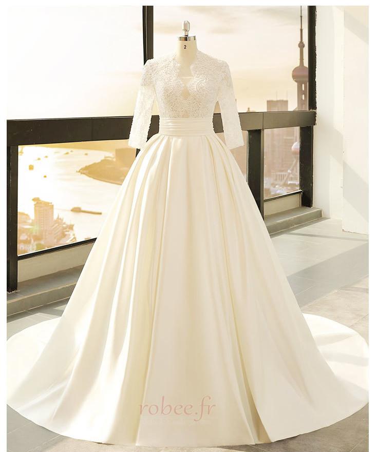 Robe de mariage Décalcomanie Trou De Serrure Manche de T-shirt 3