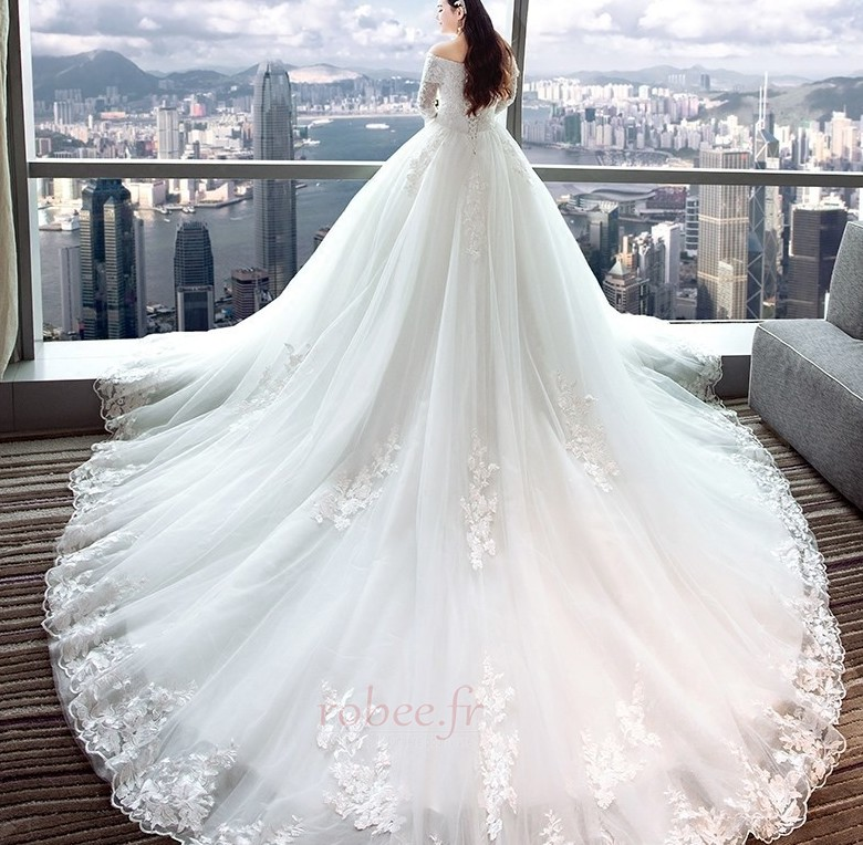 Robe de mariée Eglise Formelle Traîne Royal