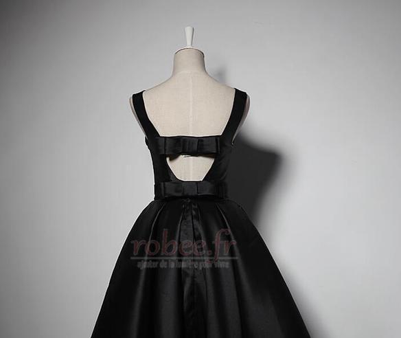 Robe de demoiselle d'honneur Simple A-ligne Satin Sans Manches 2