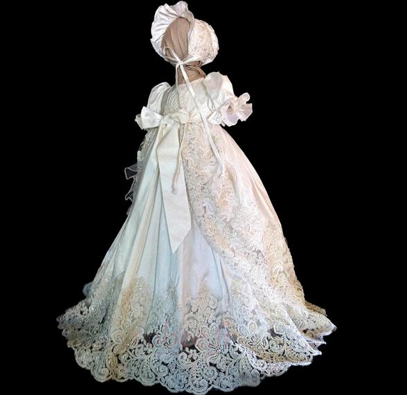 Robe de fille de fleur Princesse Manche Courte Printemps Longue 1