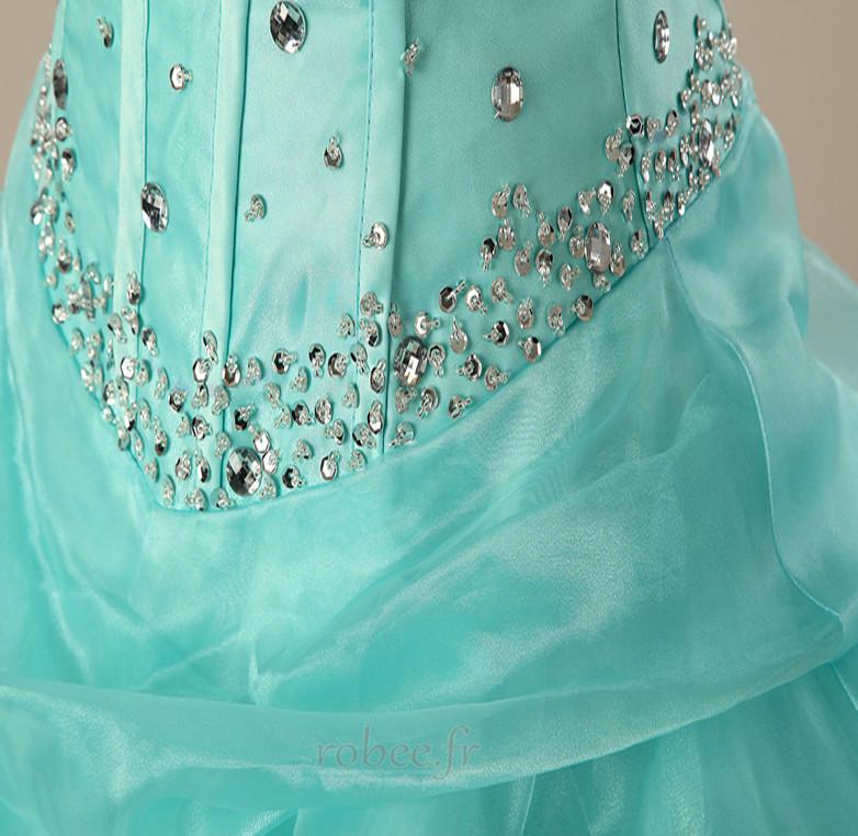 Robe de bal Sans courroies Ancien Longueur de plancher Fourreau Avec Bijoux 4